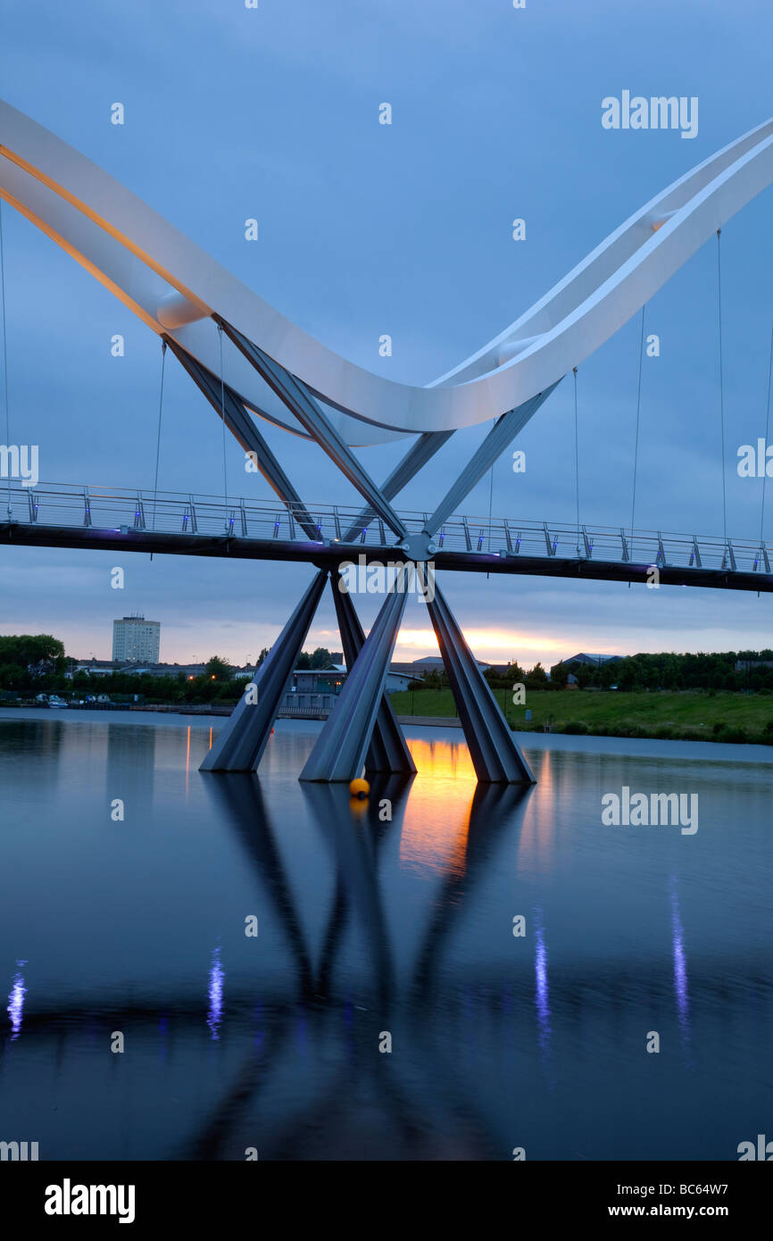 Infinity-Brücke, Stockton-on-Tees, Teeside, uk Stockfoto