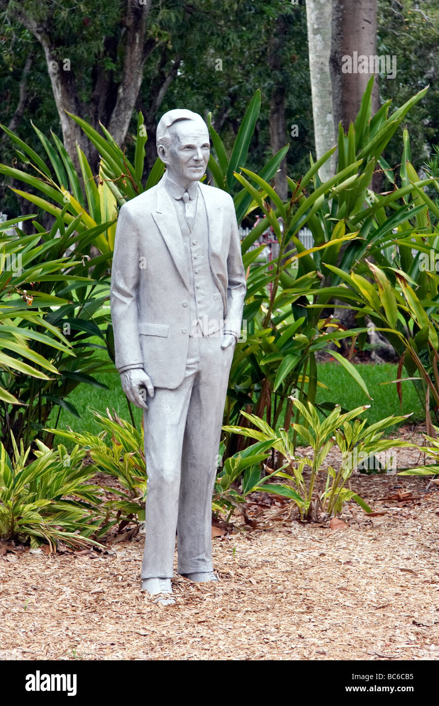 Statue von Henry Ford an Ford Winter Estate Fort Myers Florida Stockbild