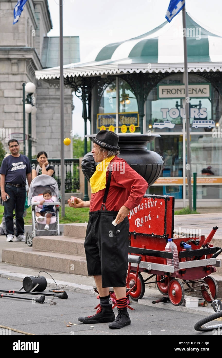 Street Performer / Entertainer Stockfoto