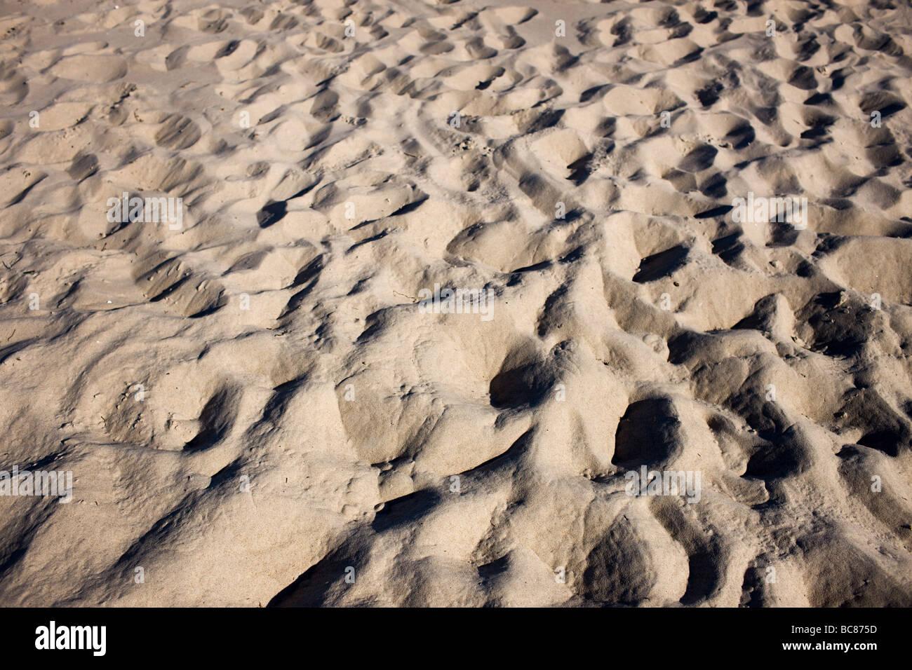 Sandstrand in Prora Stockbild