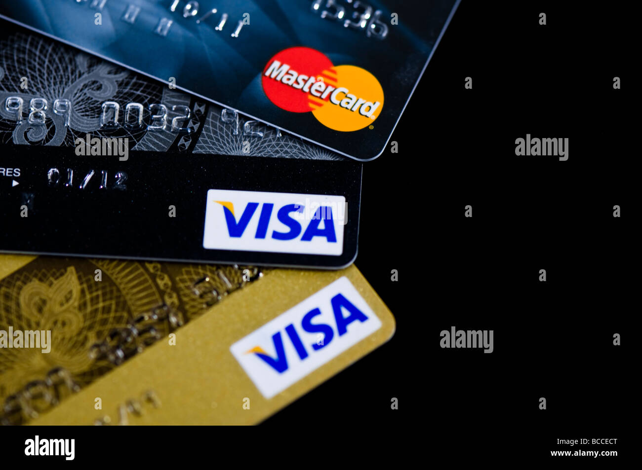 Kreditkarten-Ausschnitt Stockbild