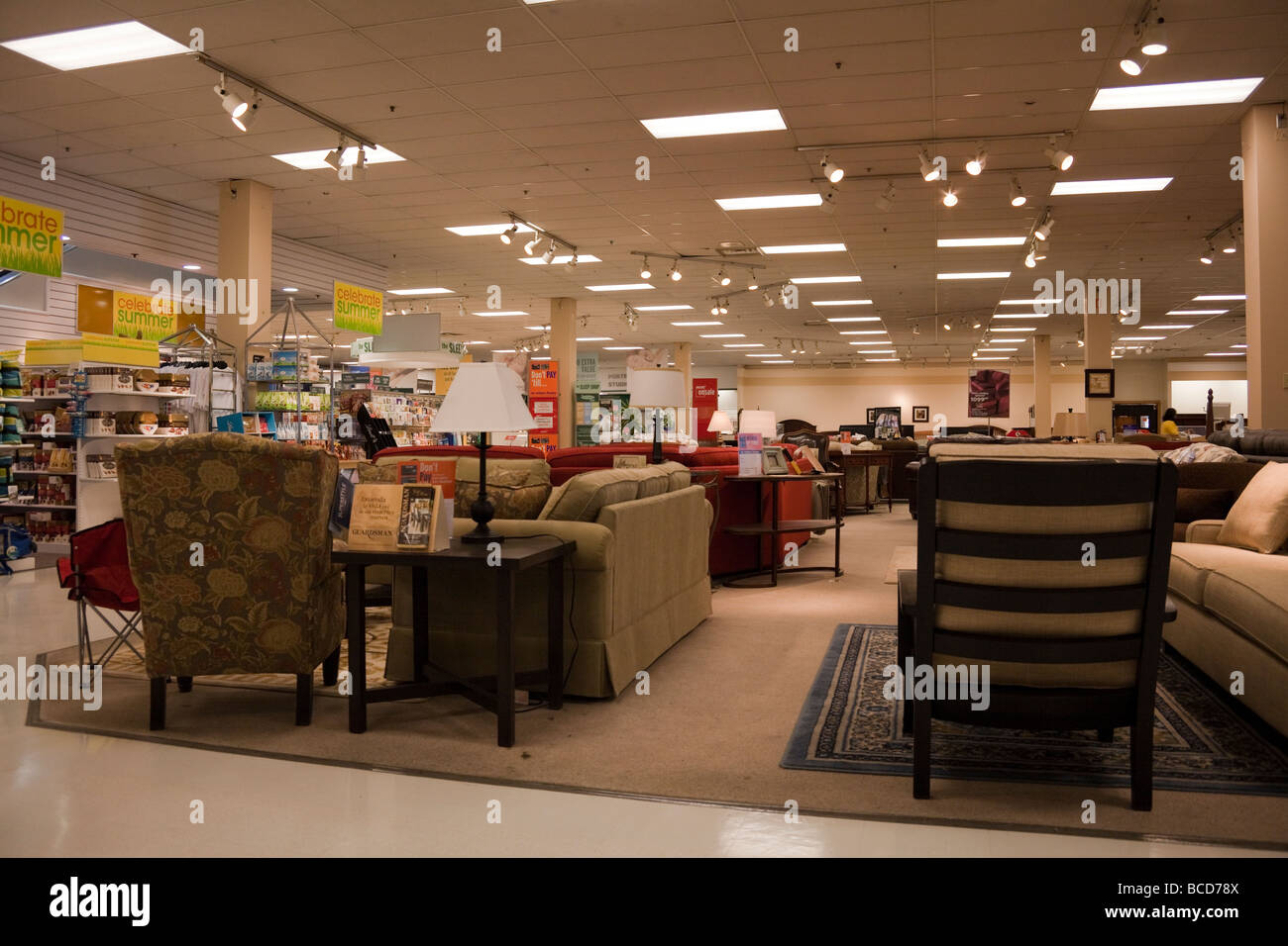Department Store Interior Furniture Stockfotos & Department Store ...