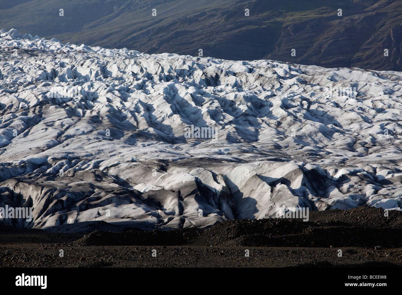 Fláajökull, Gletscher in der Nähe von Höfn im Südosten Islands. Stockbild