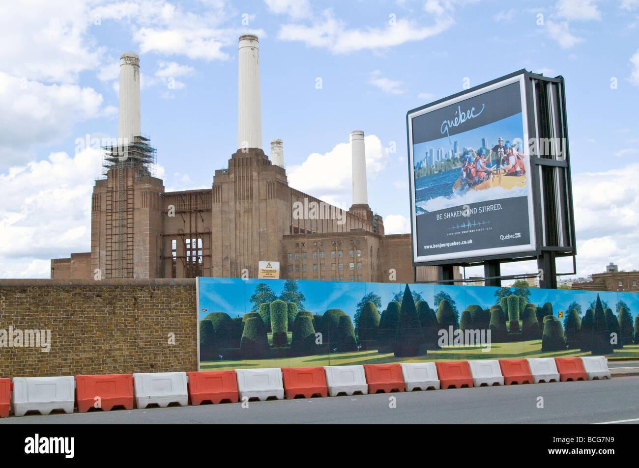 VEREINIGTES KÖNIGREICH. Battersea-Kraftwerk auf der Themse, London. Foto © Julio Etchart Stockbild