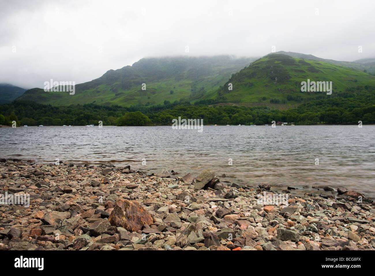 Loch Earn aus St. Fillans Stockbild