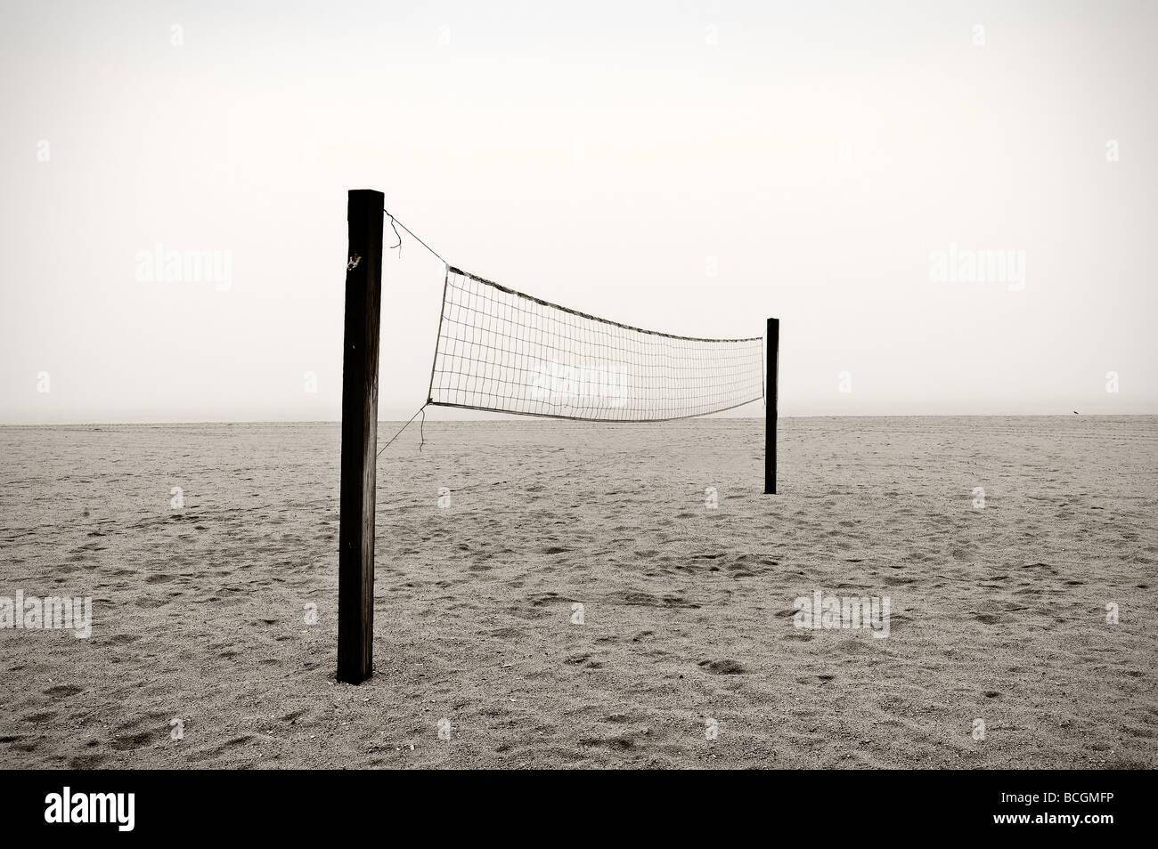 Beach-Volleyball-Netz Stockbild