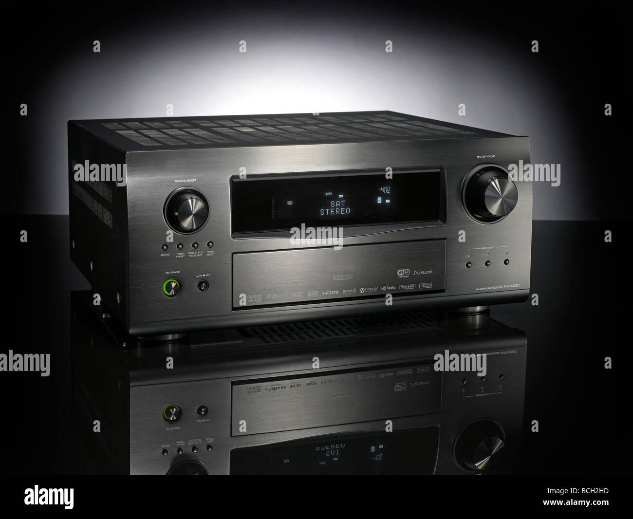 Audio-Receiver Horizontal Stockbild