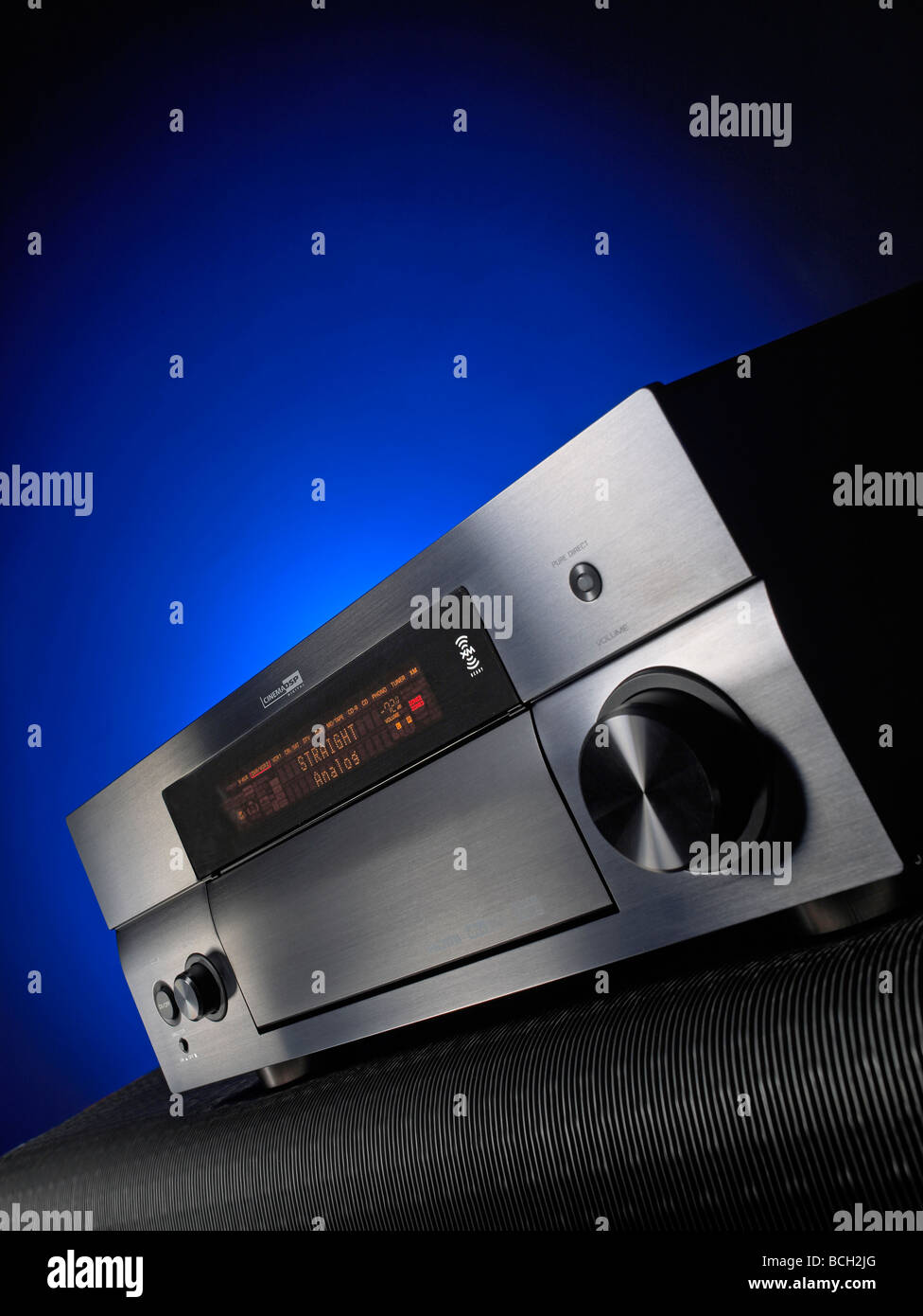 Audio-Receiver vertikale Stockbild