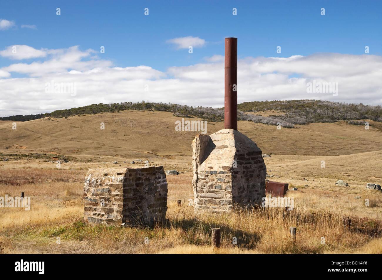 Ruinen, die historischen Gebäude aufgegeben Gold Rush Town von Kiandra Kosciuszko National Park Snowy Mountains, Stockbild