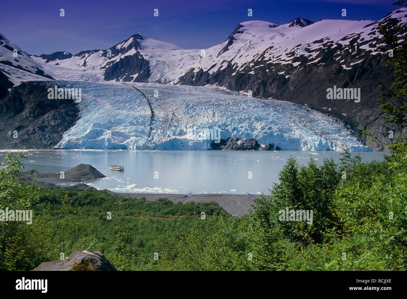 Ansicht Des Portage Glacier Von Portage Pass Sc Alaska Sommer Stockfotografie Alamy