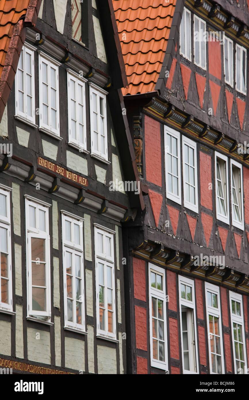 Deutschland, Niedersachsen, Celle, alte Fachwerkhäuser Stockbild
