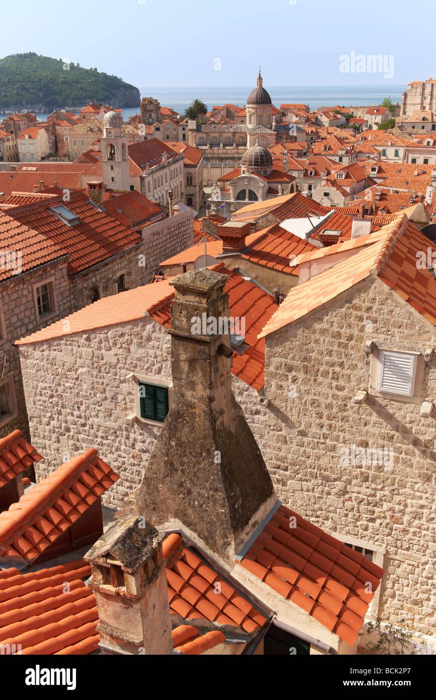 Dächer von Dubrovnik Kroatien Stockbild