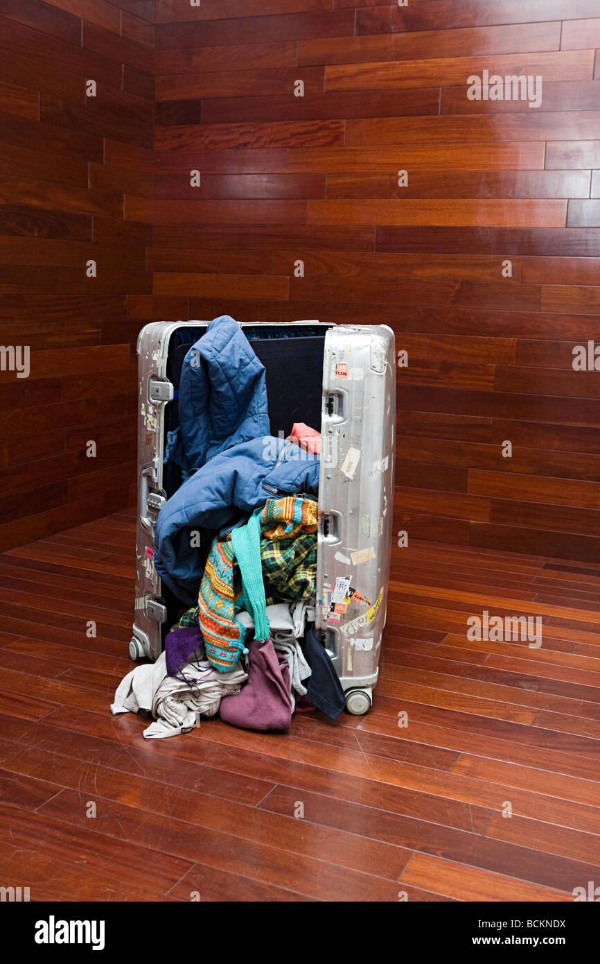Offenen Koffer Stockbild