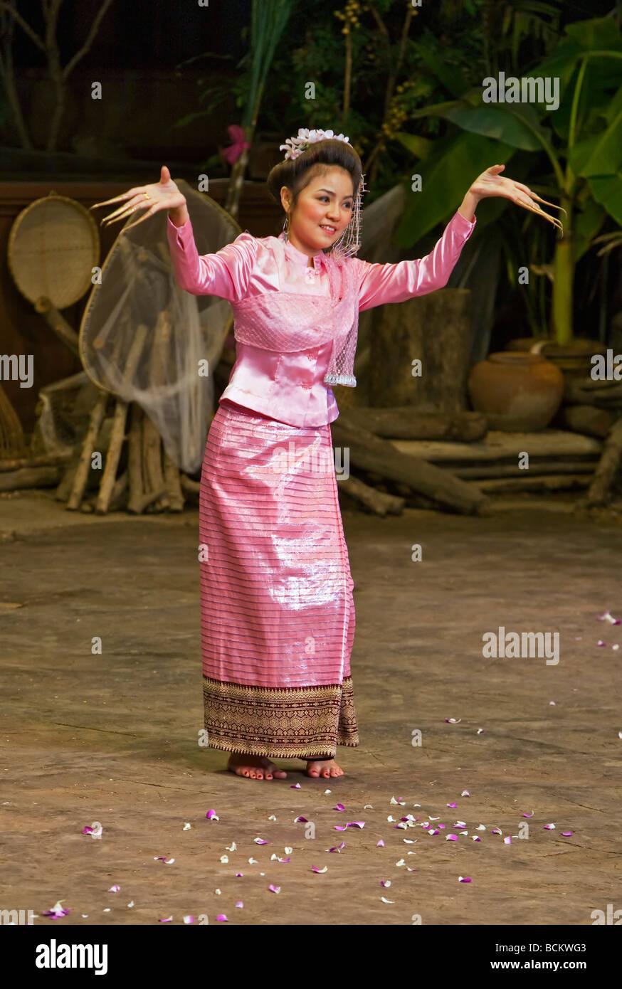 Thailand A Traditionelle Thai Hochzeit Dargestellt In Einer