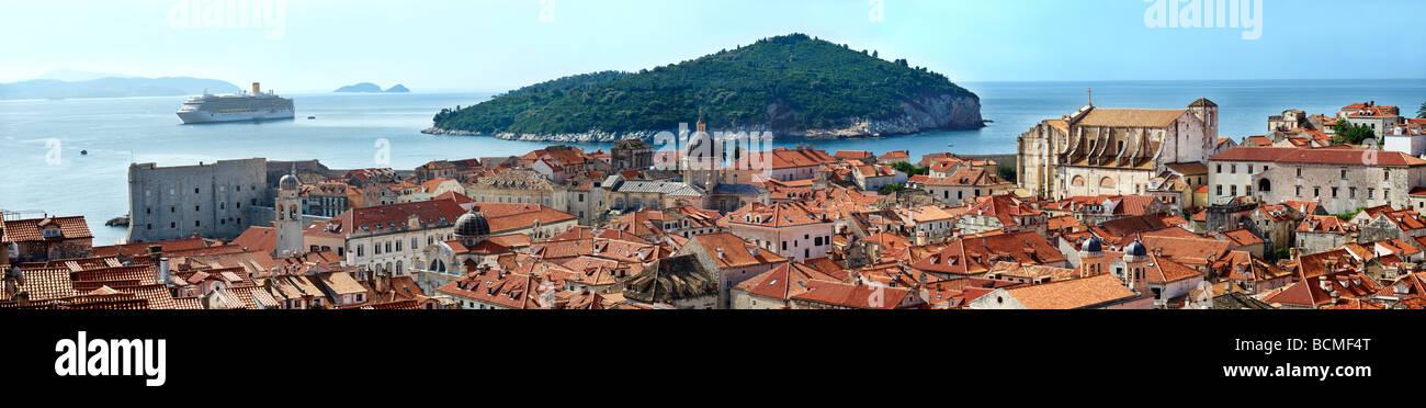 Panorama der Altstadt von Dubrovnik - Kroatien Stockbild