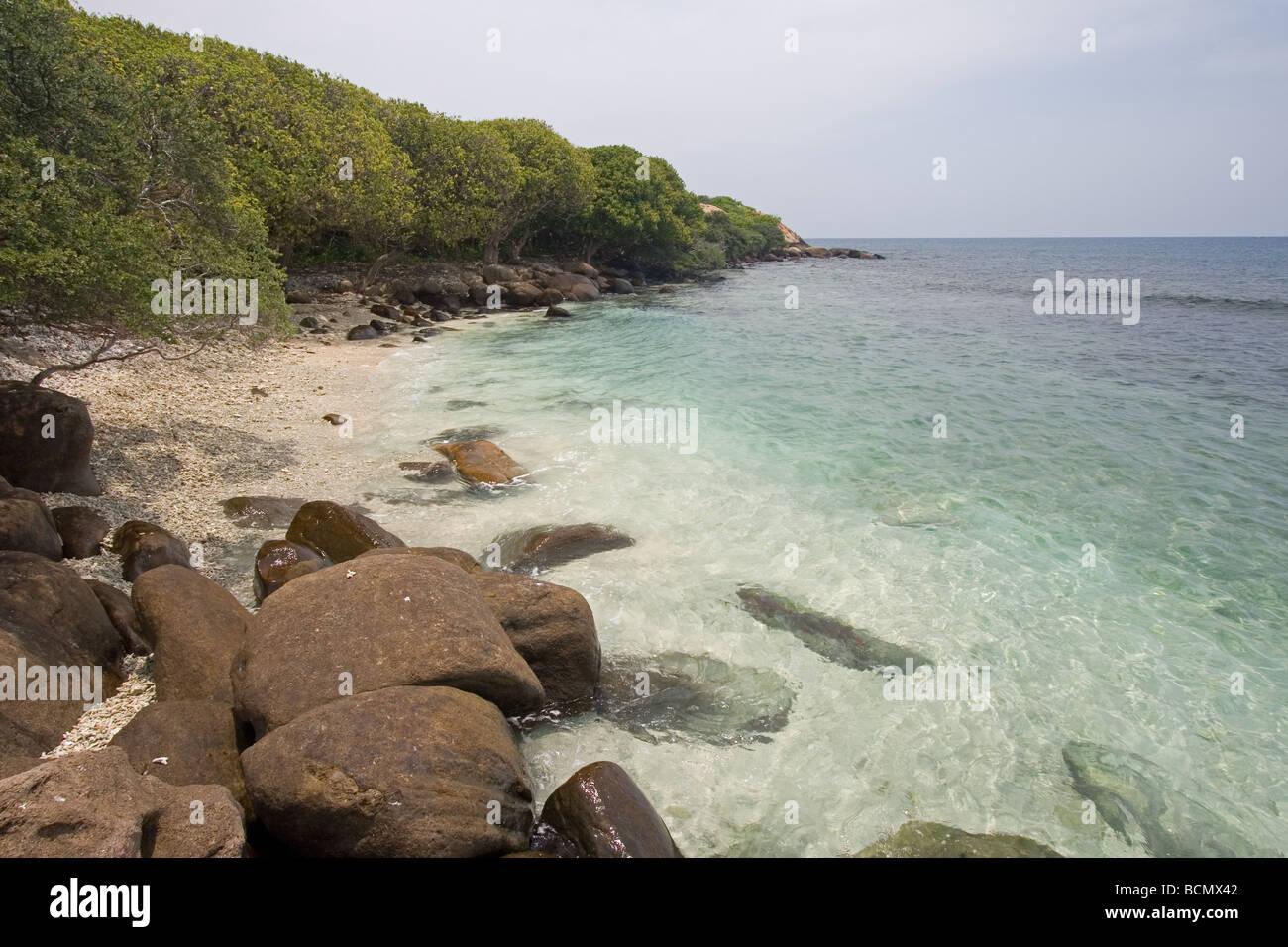 Pigeon Island Nilaveli Beach Trincomalee Sri Lanka Eine