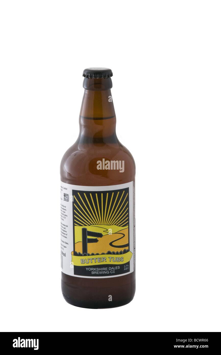 """Flasche """"Butter Tubs"""" Bier gebraut durch die Yorkshire Dales Brewing Co. Stockbild"""