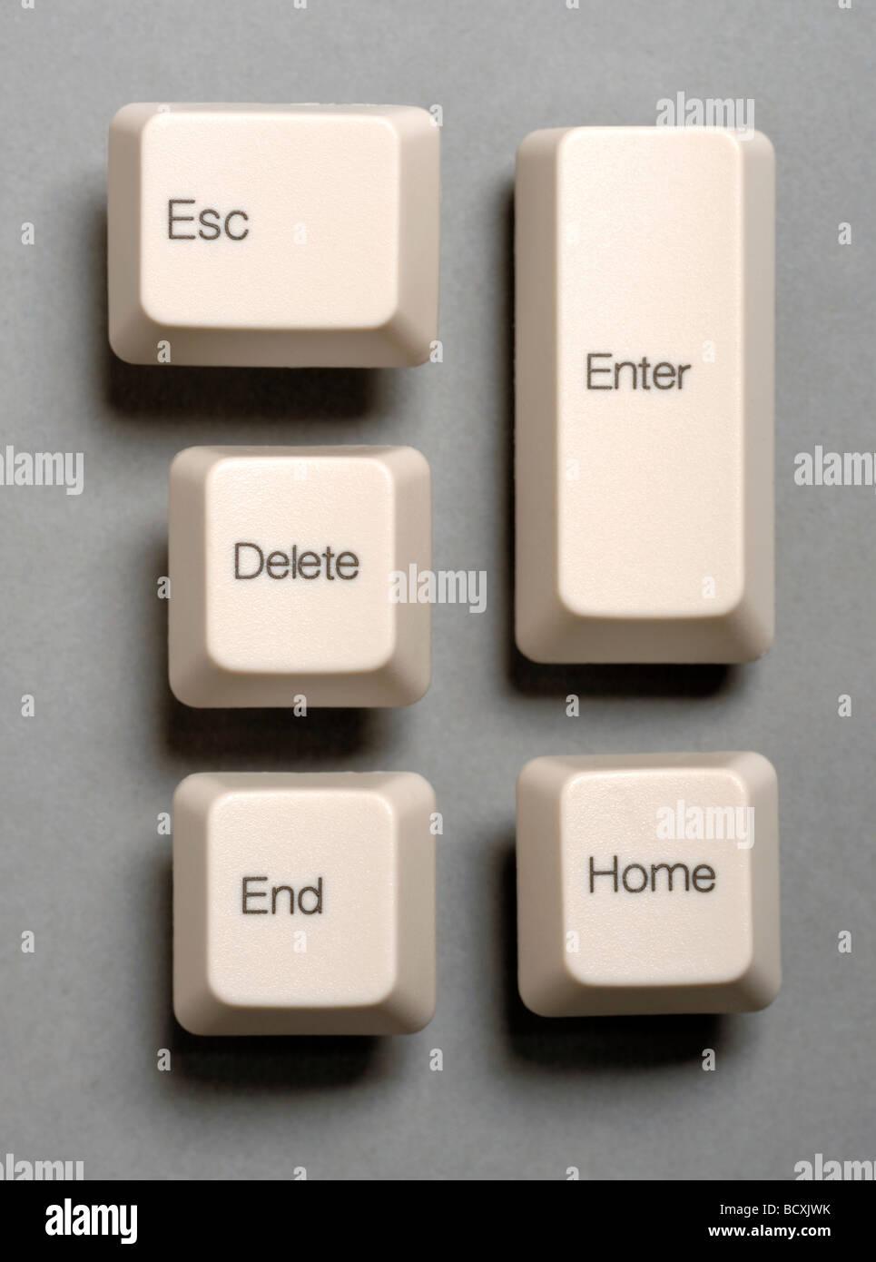 Computer-Tastatur-Tasten Stockbild