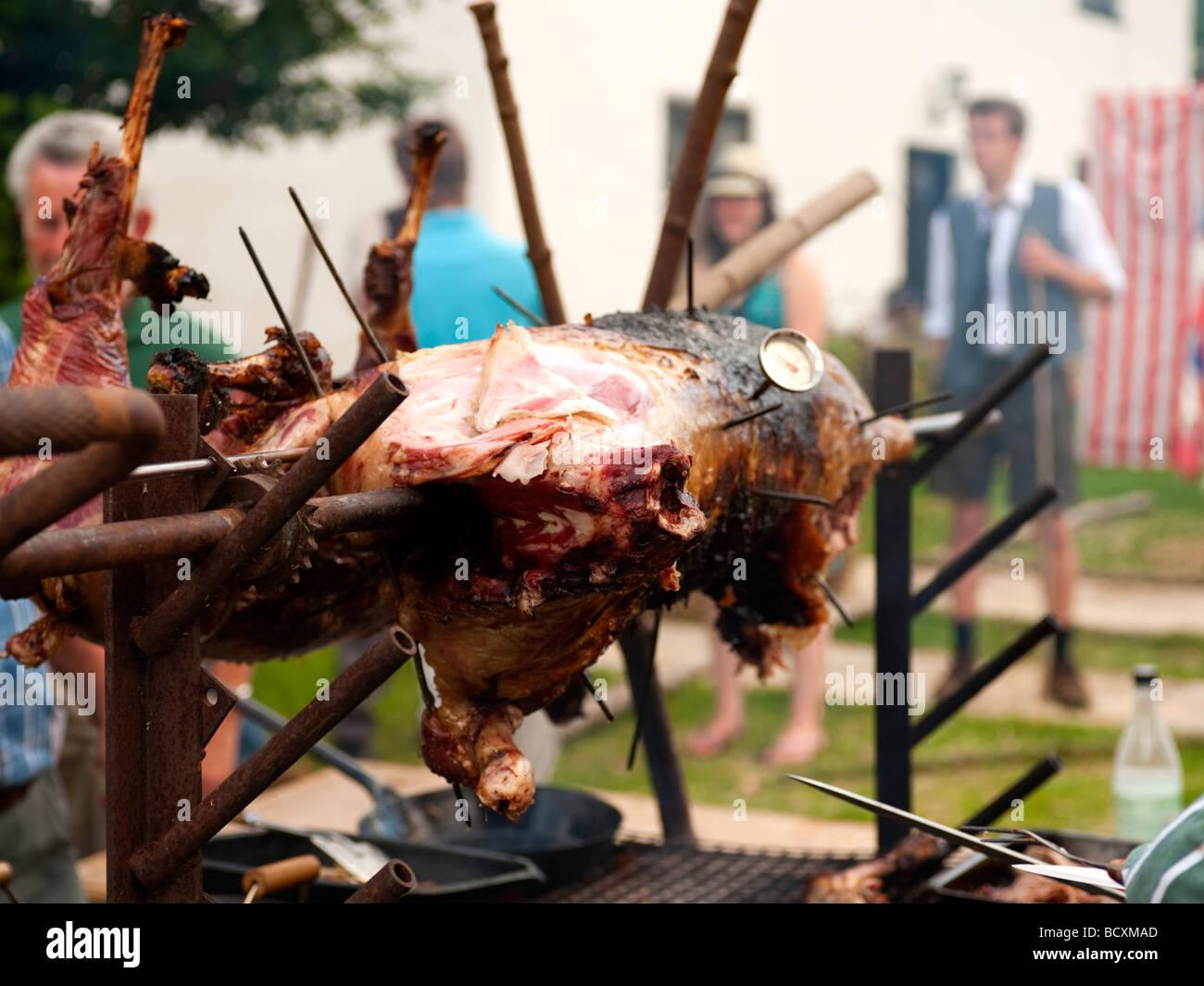 Pig food banquet stockfotos pig food banquet bilder alamy for Kochen temperatur