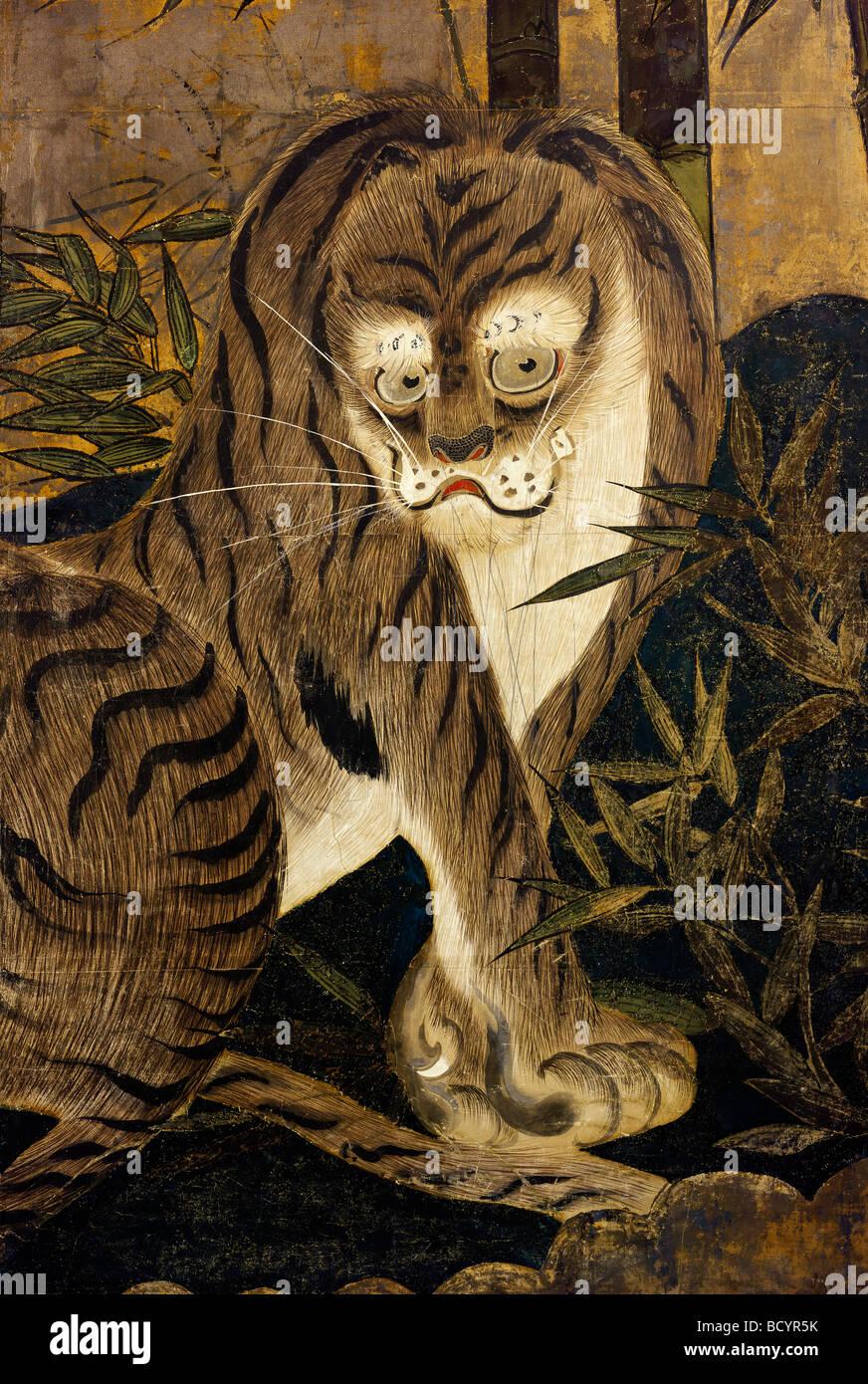 Japanese tiger stockfotos japanese tiger bilder alamy - Bemalte leinwande ...