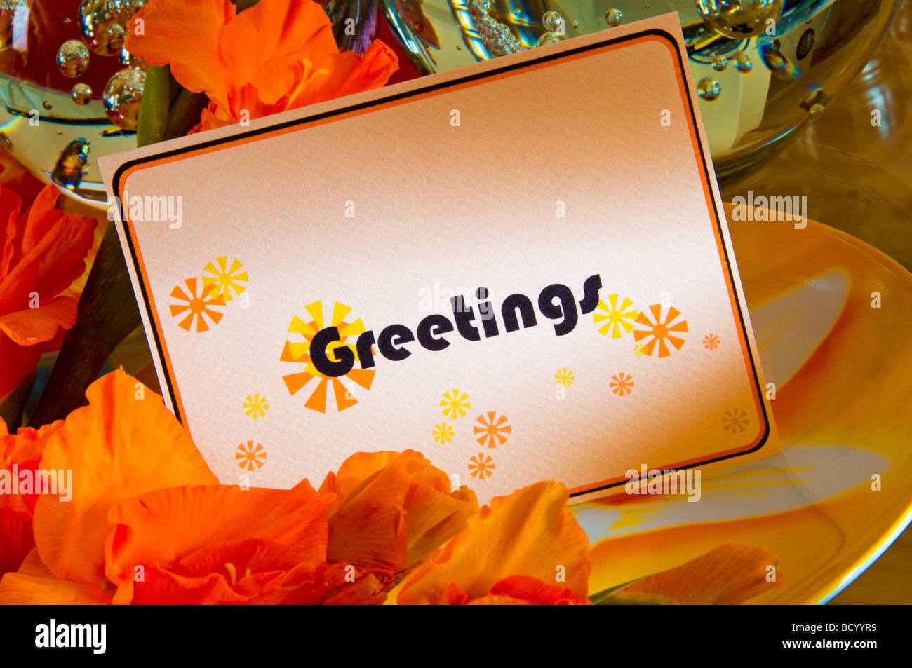 Gefaltetes Papier Grußkarten-Einladungen Stockbild
