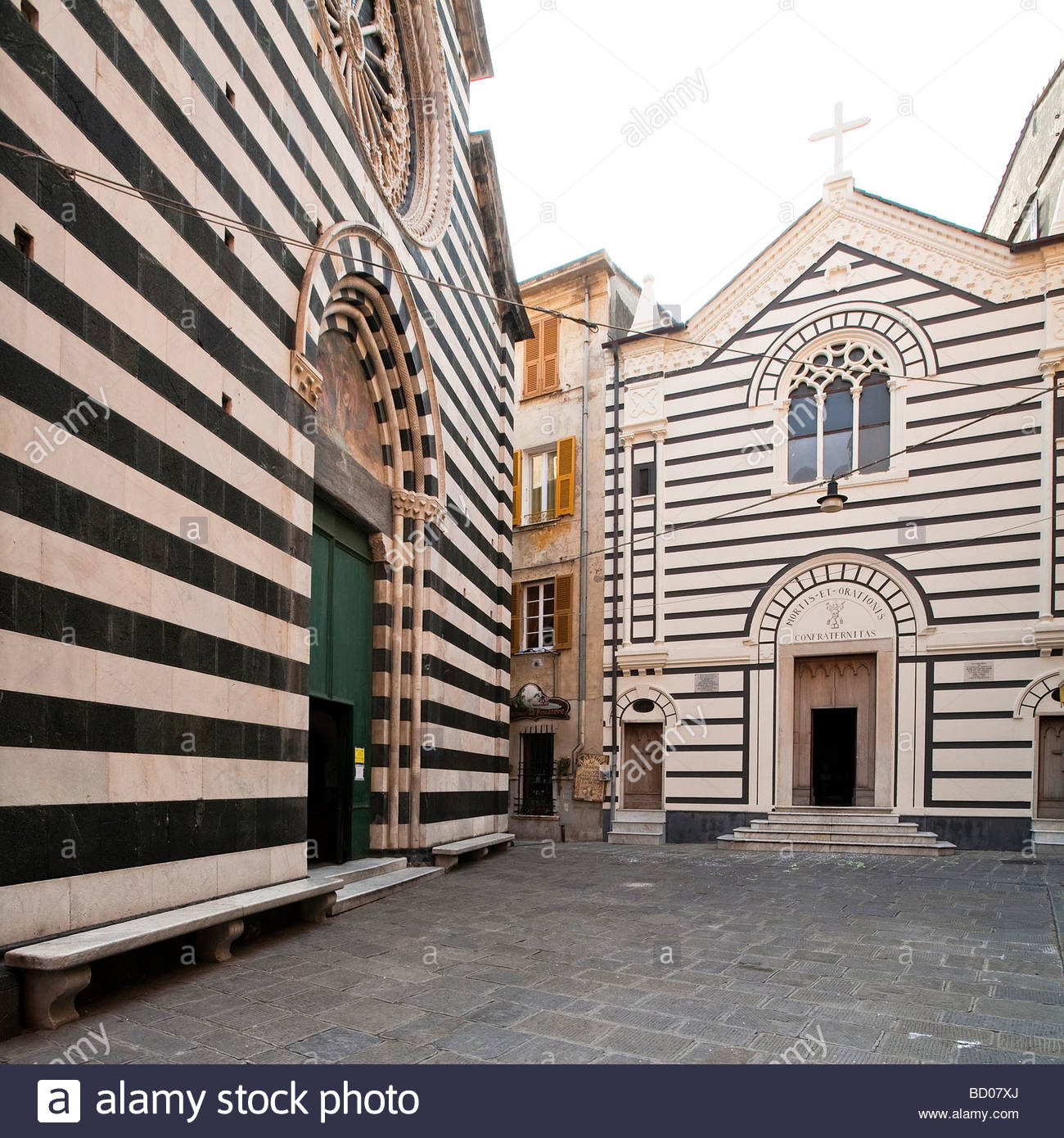 Kirche von San Giovanni Battista, Monterosso, Ligurien, Italien Stockfoto