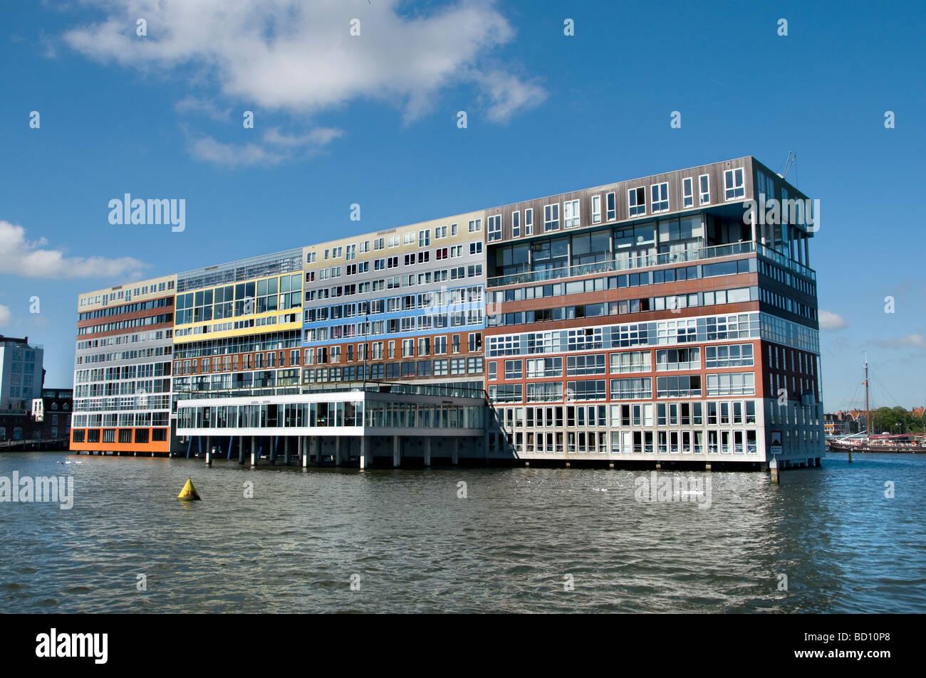 Apartments in amsterdam niederlande moderne architektur auf westerdoksdijkand zwischen oude - Architektur amsterdam ...