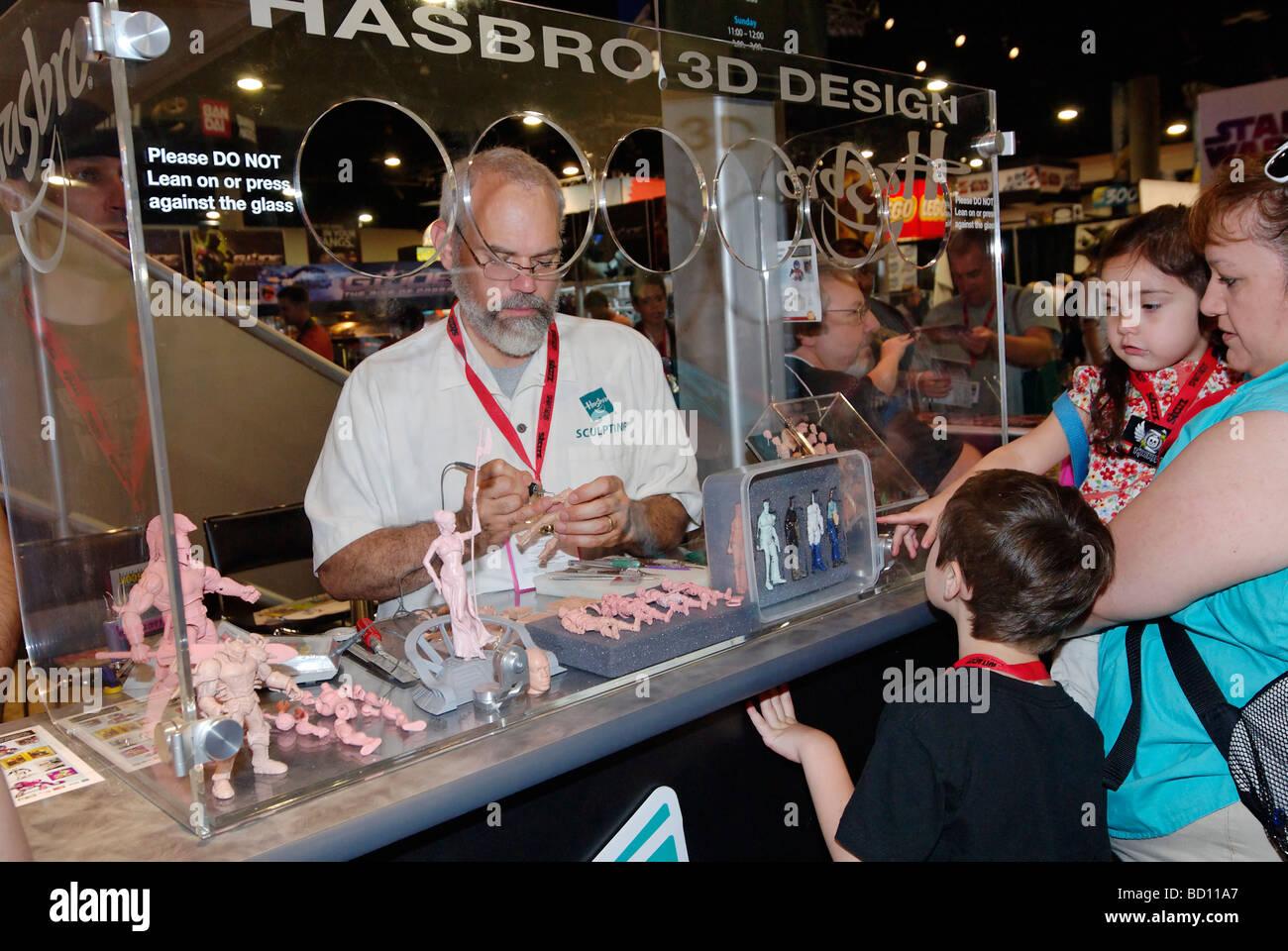 Comic-Con International 2009 in San Diego statt. Die jährliche Comics und Volkskunst Übereinkommen zieht Stockbild
