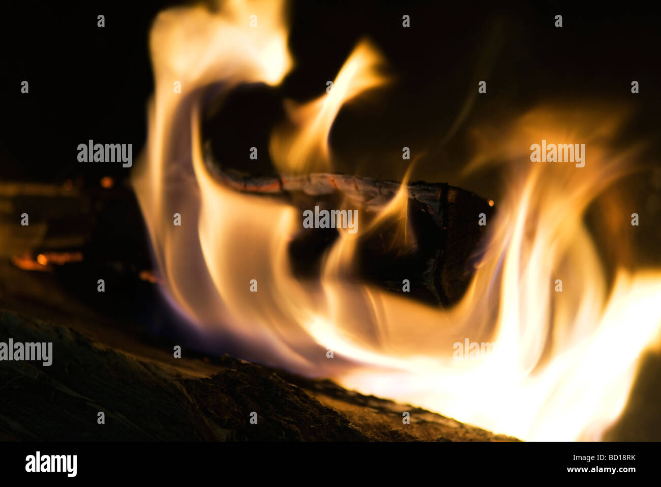 Feuer, close-up Stockbild