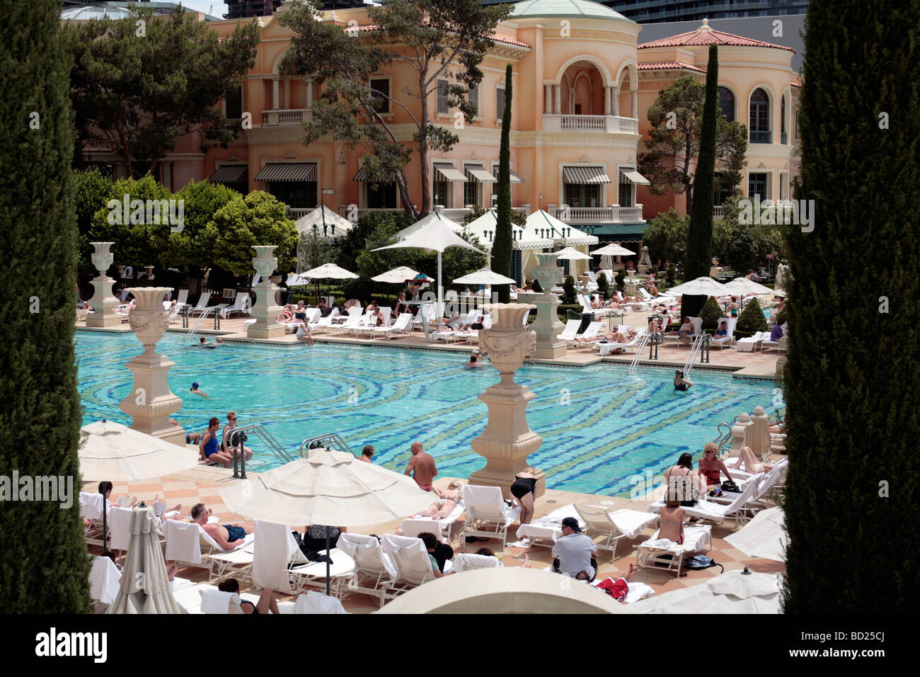 Schwimmbad Im Hotel Bellagio Las Vegas Stockfoto Bild 25249074 Alamy
