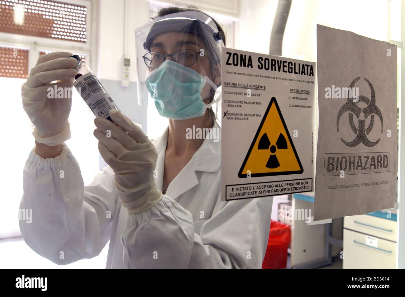 Mailand (Italien), Krankenhaus Sacco für ansteckende Krankheiten Labor Virologie Stockbild