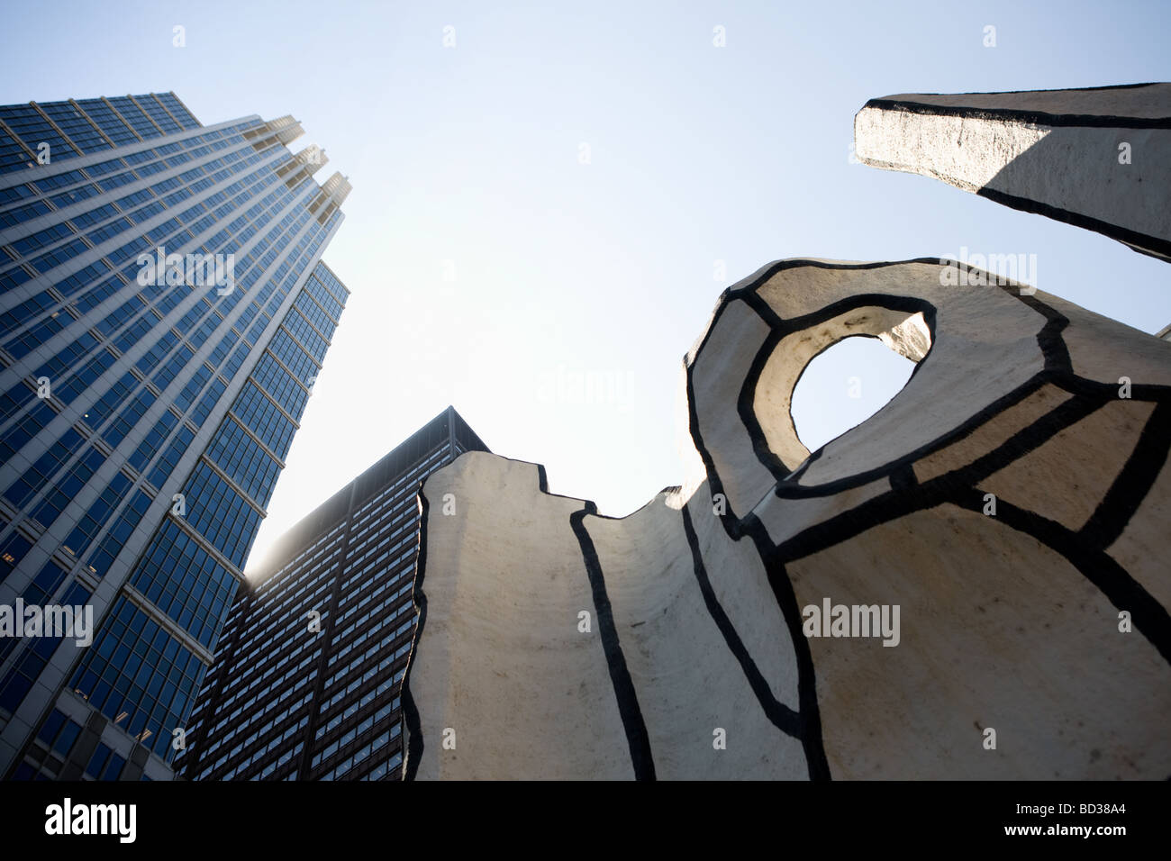 Dubuffet Skulptur in Daley Plaza der Schleife Chicago Illinois Stockbild