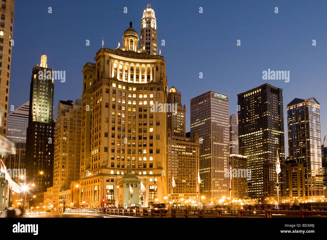 Nordende von The Loop Chicago Illinois Stockbild