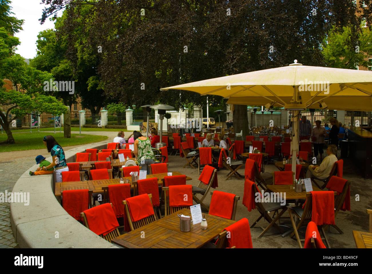 Cafe Restaurant am Kulturen das open Air Museum in Lund Skåne Schweden Europa Stockbild