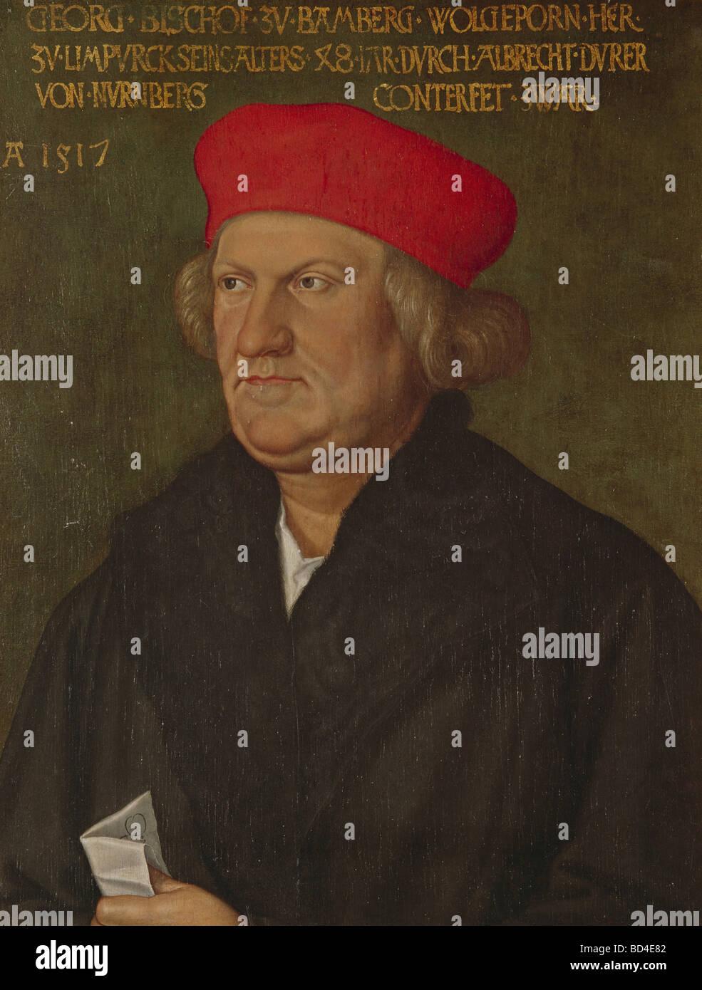 George III (Schenk von Limpurg), 1470-1522, Bischof von Bamberg 1505-1522, Portrait, Gemälde von Albrecht Dürer, Stockbild