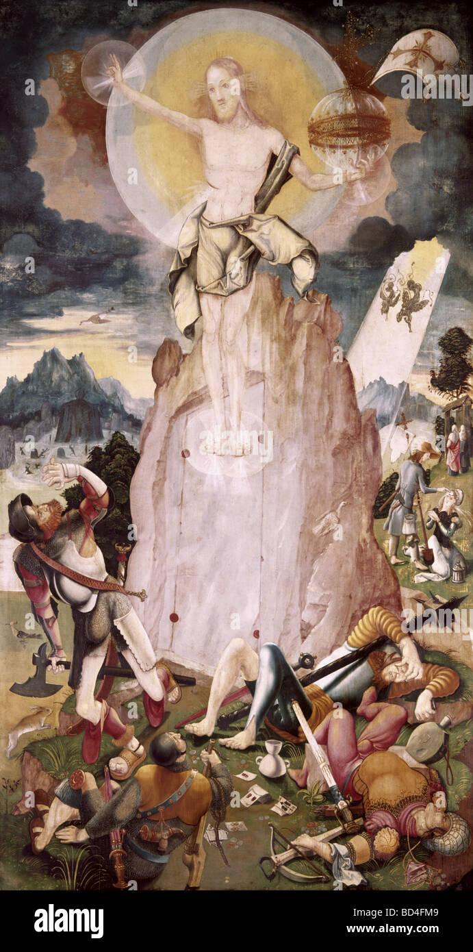 Bildende Kunst, Ratgeb, Jörg (vor 1480-1526), Malerei, Christi ...