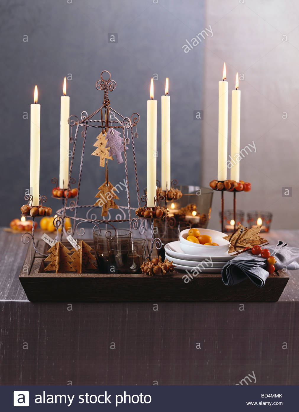 weihnachtsschmuck skandinavischer stil stockfoto bild 25304963 alamy. Black Bedroom Furniture Sets. Home Design Ideas