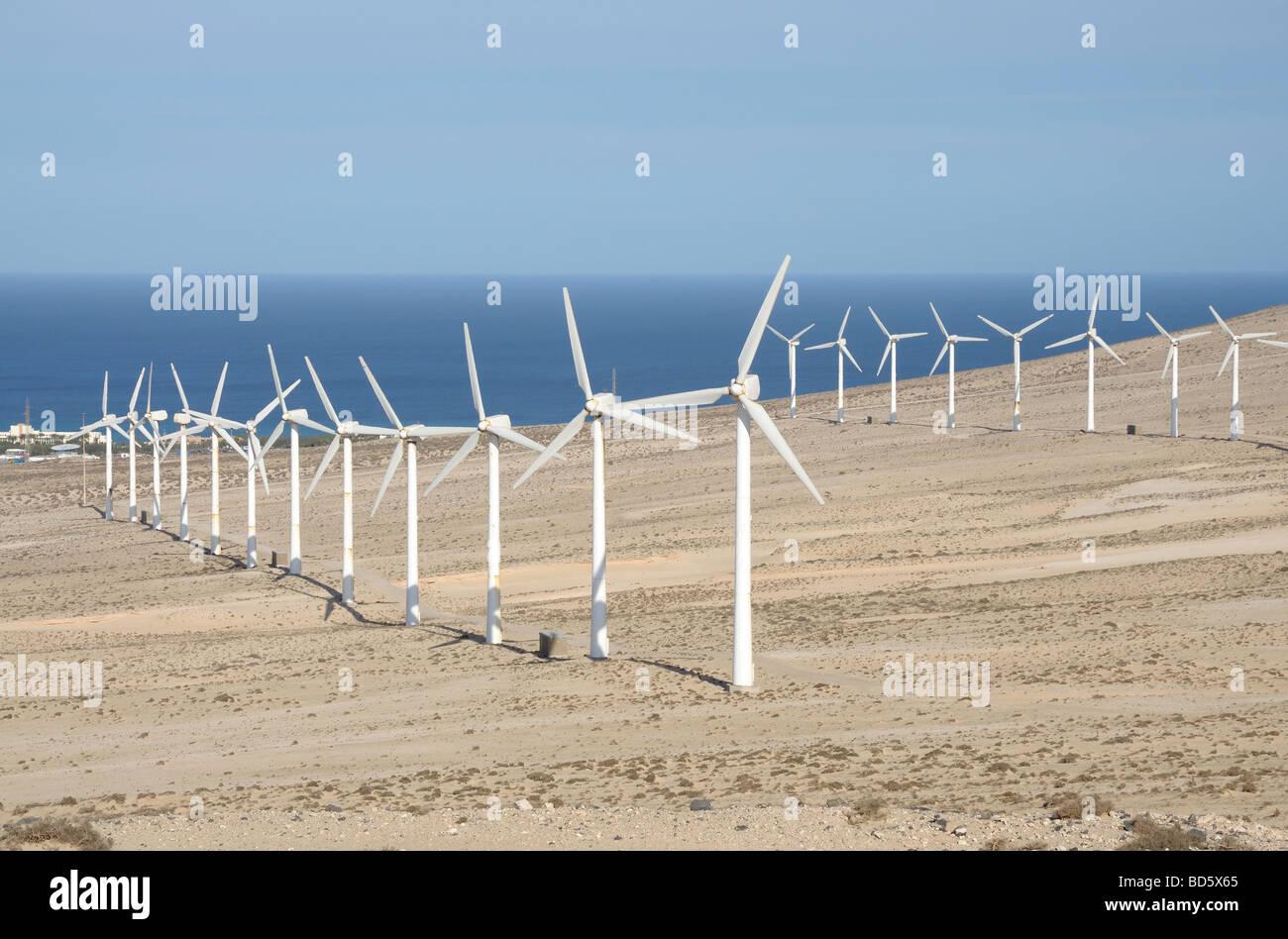 Anlagen für erneuerbare Energien. Kanarischen Insel Fuerteventura Stockbild