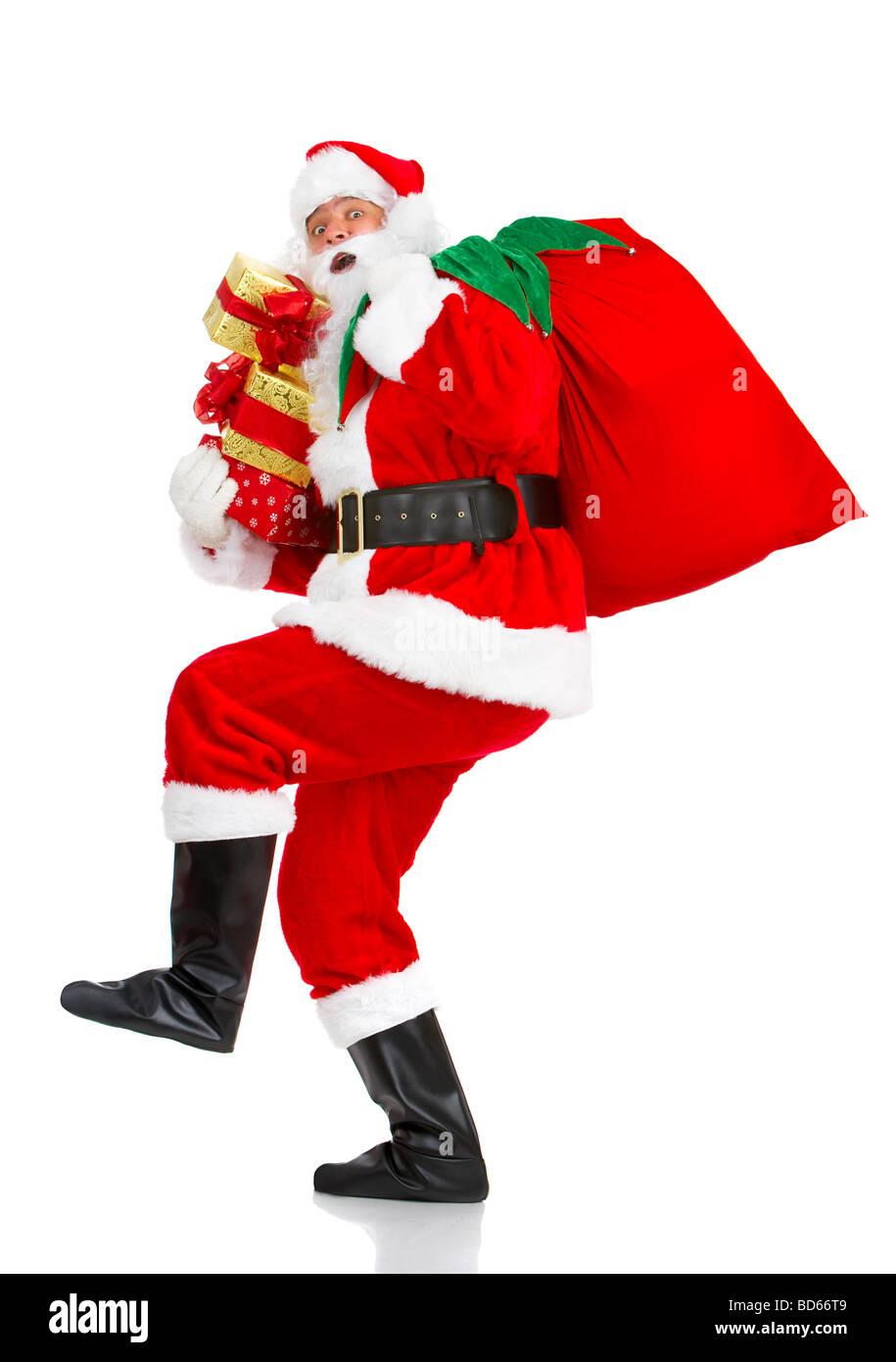 Santa Claus, Weihnachtsmann Stockbild