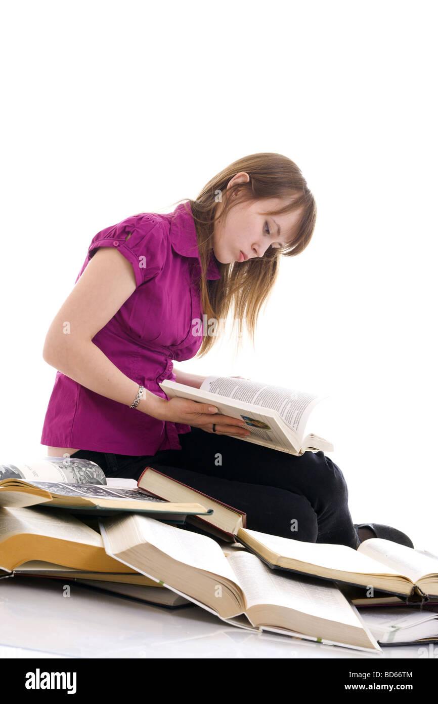 Studien und Lektüre Stockbild