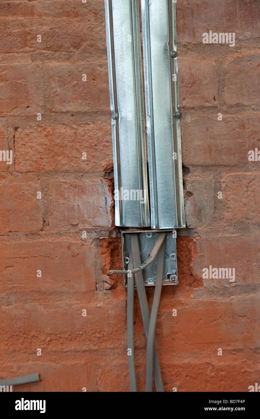 Neue Elektrische Verdrahtung In Einem Haus Renovierung Projekt 1. Update  Stockbild