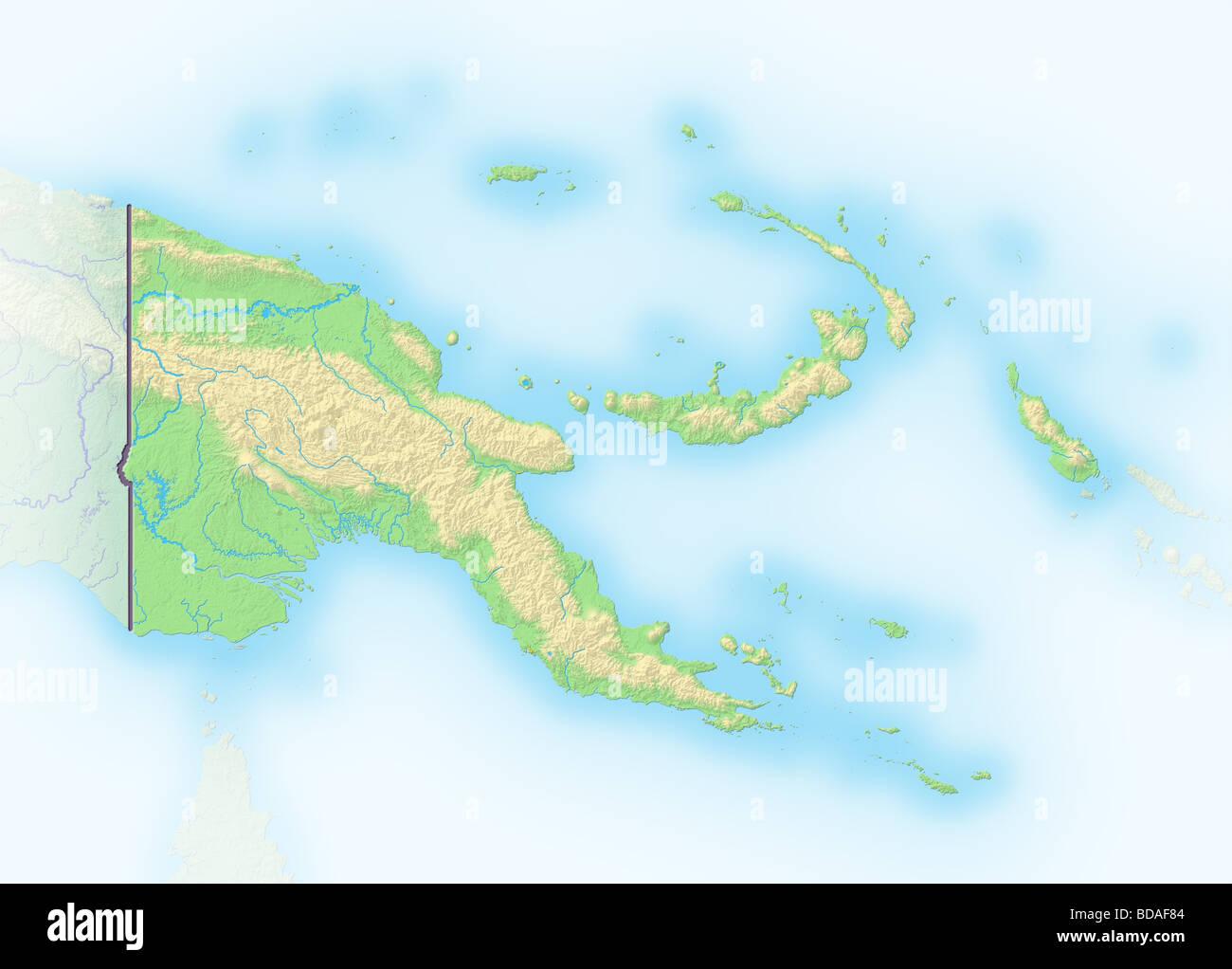 Map Of Papua New Guinea Stockfotos & Map Of Papua New Guinea Bilder ...