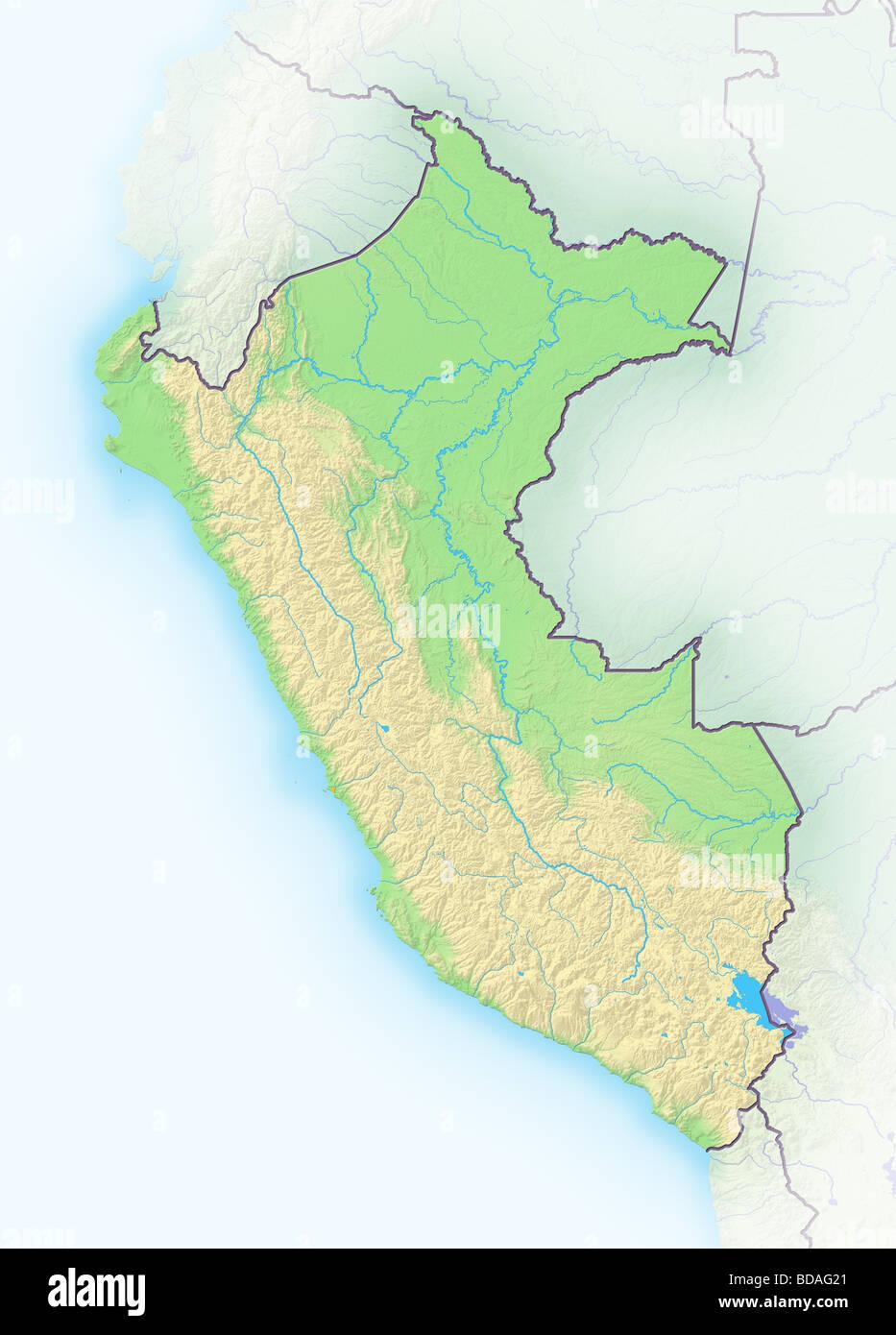 Peru Map Stockfotos & Peru Map Bilder - Alamy