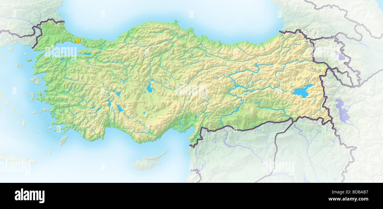 Turkey Map Stockfotos & Turkey Map Bilder - Alamy