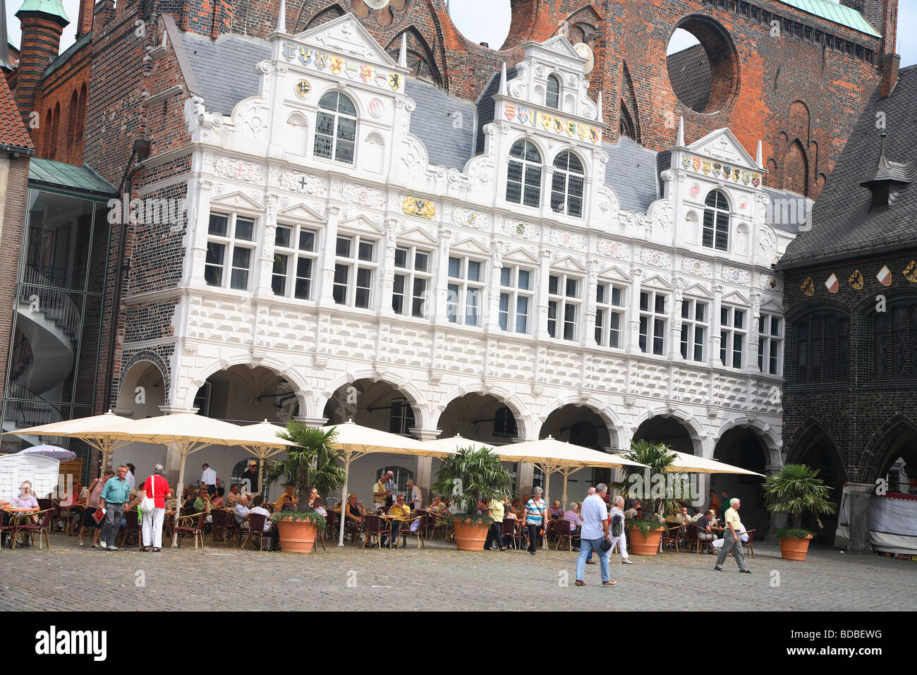 germany l beck lubeck rathaus marktplatz stockfotos germany l beck lubeck rathaus marktplatz. Black Bedroom Furniture Sets. Home Design Ideas