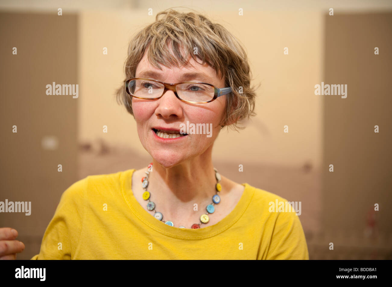 CHRISTINE MILLS, walisische Artist bei der National Eisteddfod of Wales, Bala, August 2009 Stockbild