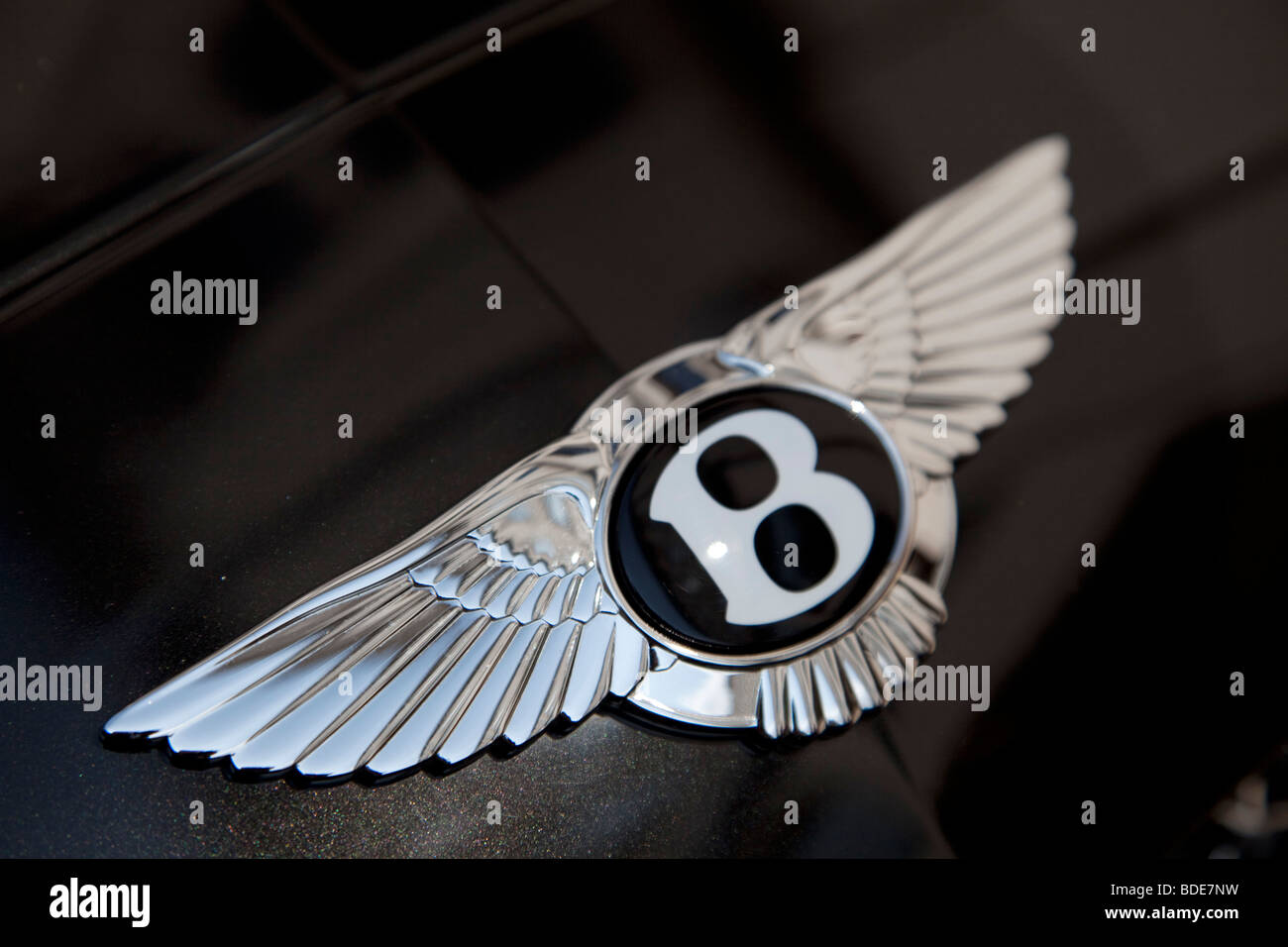 Bentley-Auto-Plakette. Stockbild