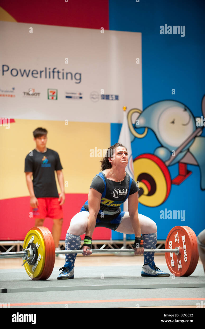 Disa Lee Hatfield Usa Konkurriert In Frauen Powerlifting