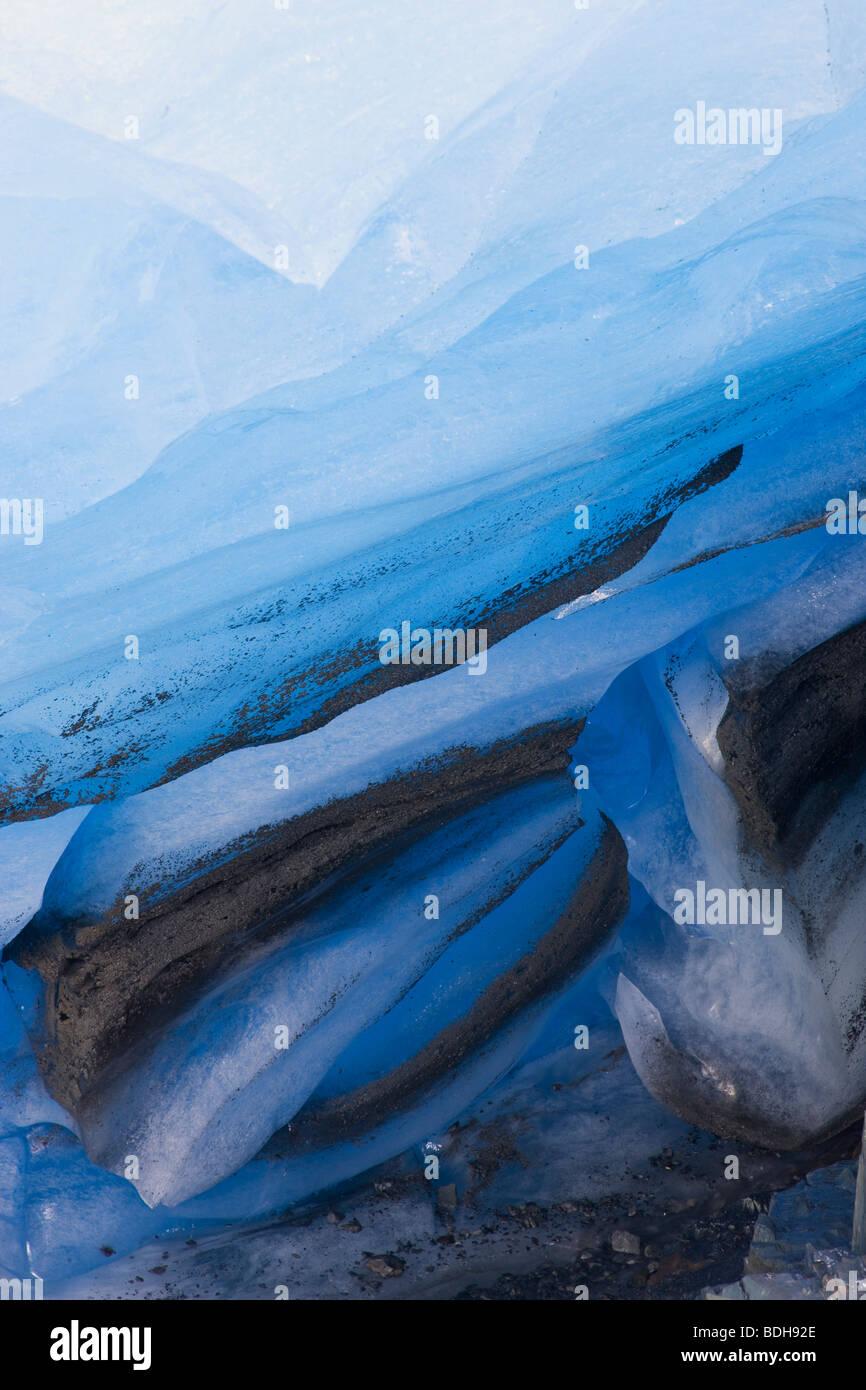 Exit-Gletscher, Kenai-Fjords-Nationalpark, Alaska. Stockbild