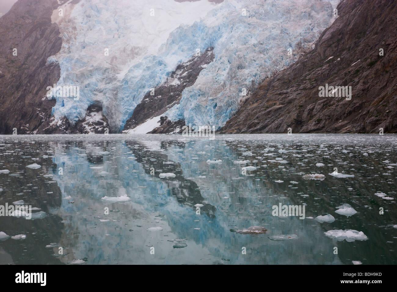 Nordwestlichen Gletscher, nordwestlichen Fjord, Kenai-Fjords-Nationalpark, Alaska. Stockbild